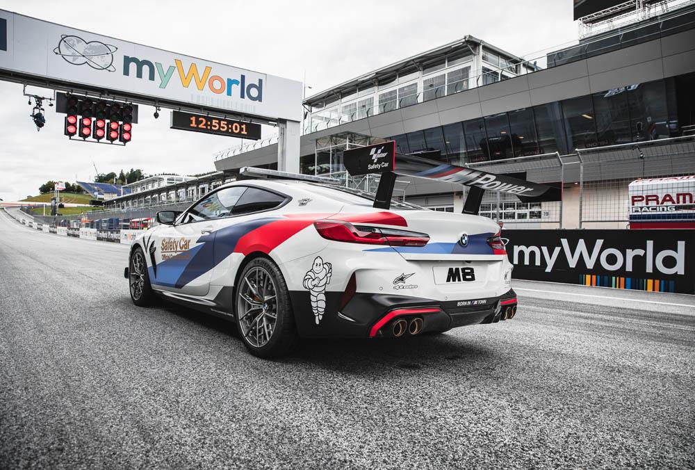 El BMW M8 MotoGP Safety Car luce impresionante con sus incorporaciones estéticas