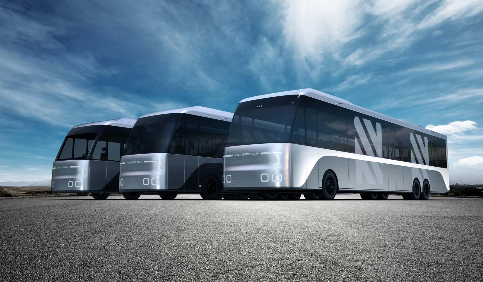 El Neuron Electric Bus puede usarse como autobús articulado