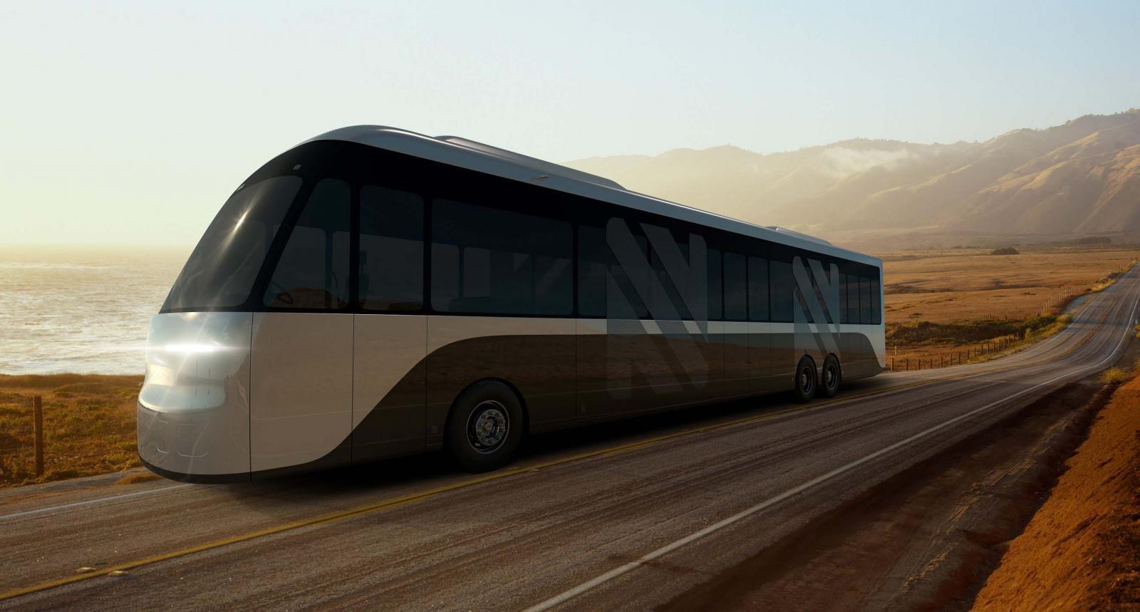 Un autobús eléctrico que puede transformarse en vagón de tren