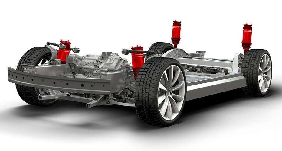 Tesla suspensión neumática