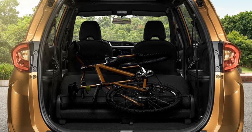 La Honda BR-V Prime 2019 permite el ajuste de los asientos de tal forma que amplía sustancialmente su capacidad de almacenamiento