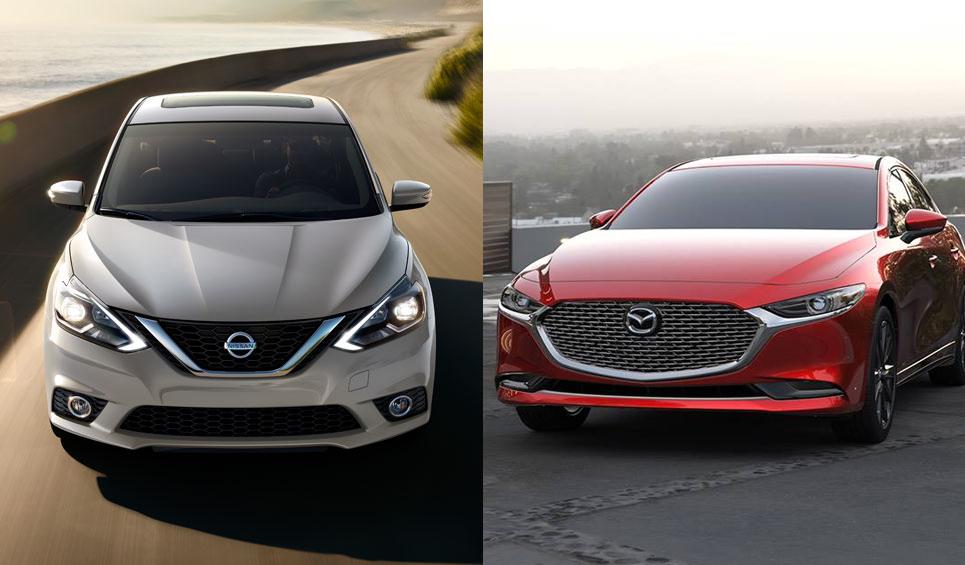 El Nissan Sentra Exclusive CVT 2019 compite con el Mazda 3 Sedán i Grand Touring 2019, aunque la batalla tiene un ganador muy claro
