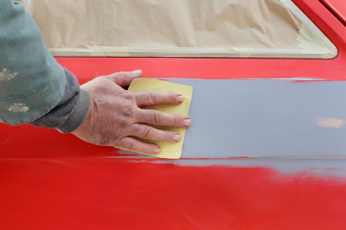 Baño de pintura automotriz
