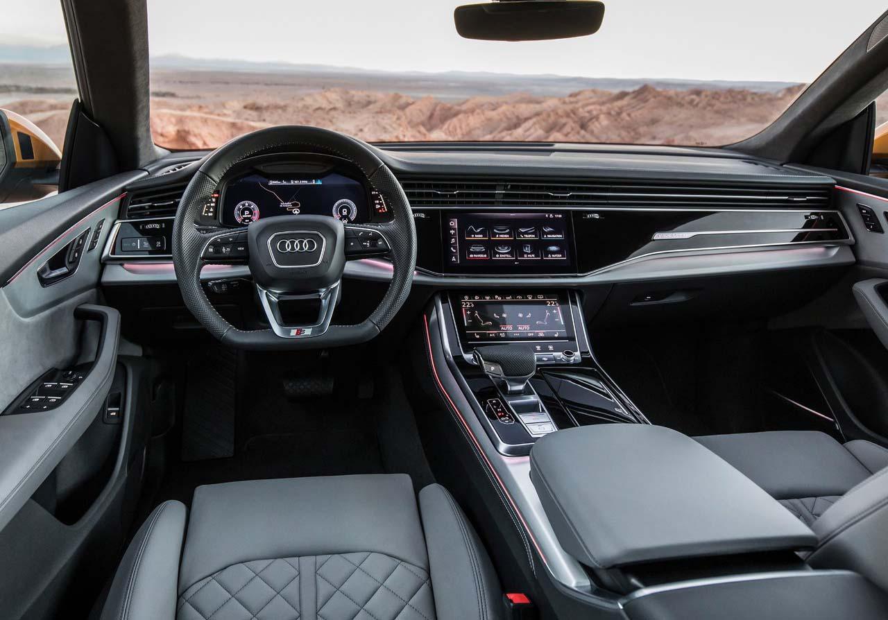 El interior de la Audi Q8 2020 precio en México genera un ambiente sofisticado