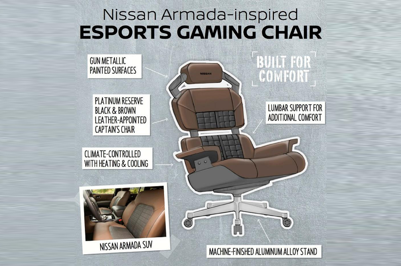 Nissan Armada silla gamer