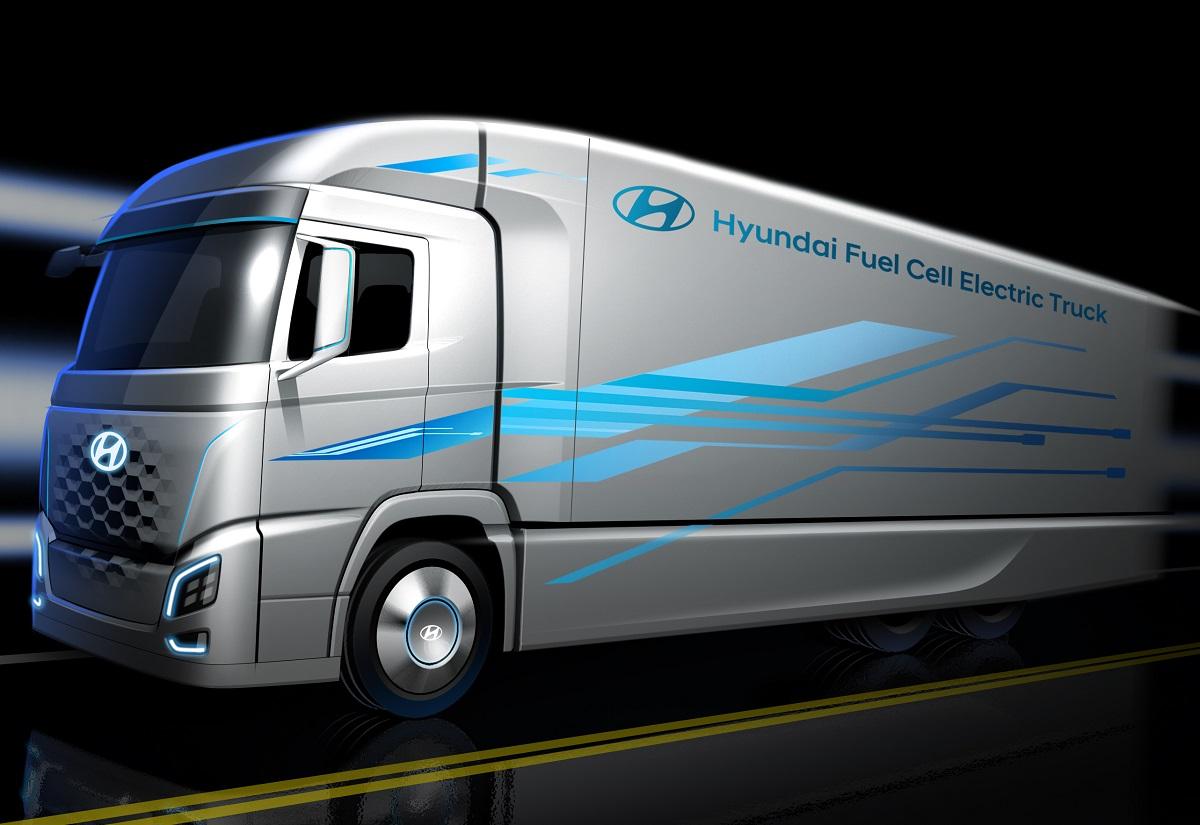 Hyundai trailer pila combustible