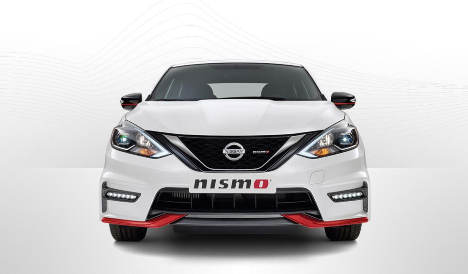 El Nissan Sentra Nismo 2019 incorpora un aerokit deportivo que le da un aspecto más agresivo