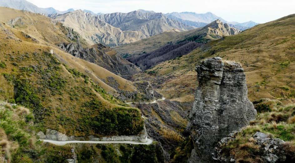 Las carreteras mas peligrosas del mundo Cañón Skippers en Nueva Zelanda
