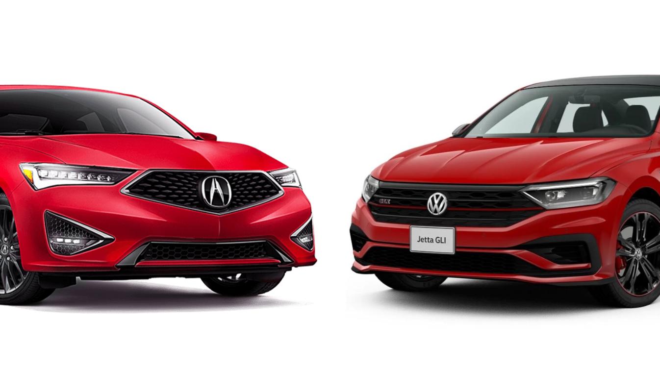 El Volkswagen Jetta GLI 2019 compite de forma destacada contra el Acura ILX A-Spec 2019
