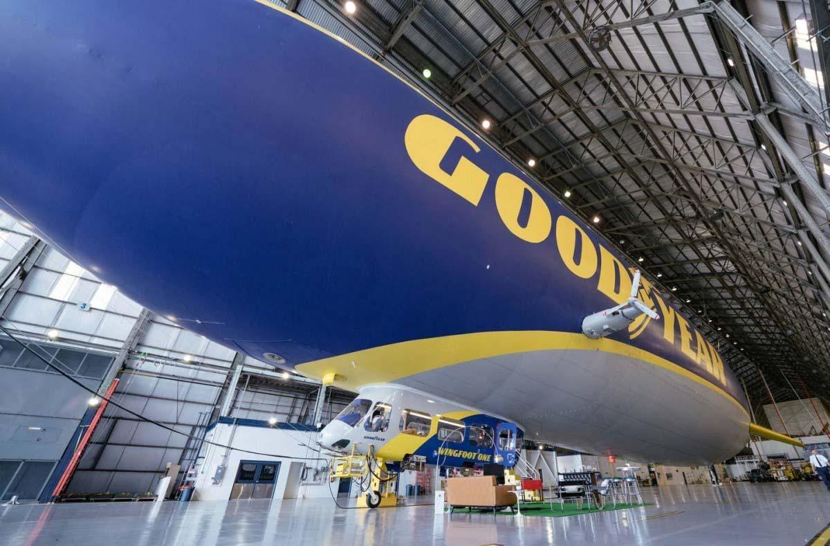 Este dirigible de Goodyear llegó a la empresa en 2014