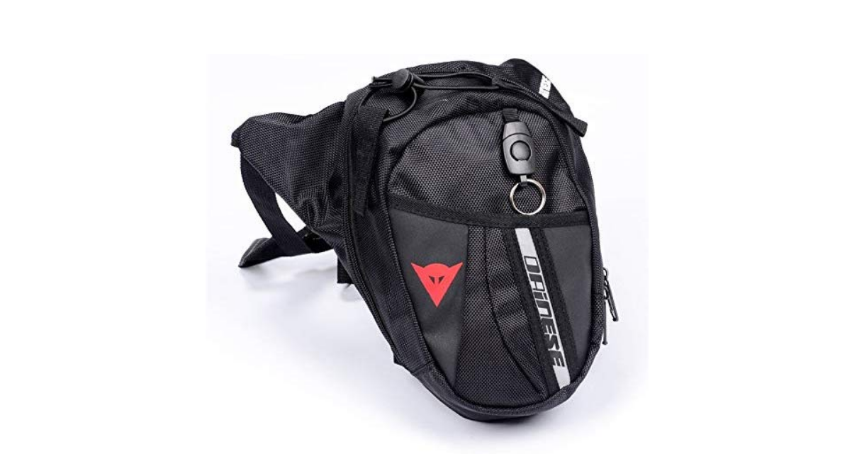 Accesorios para motociclistas mochila de pierna
