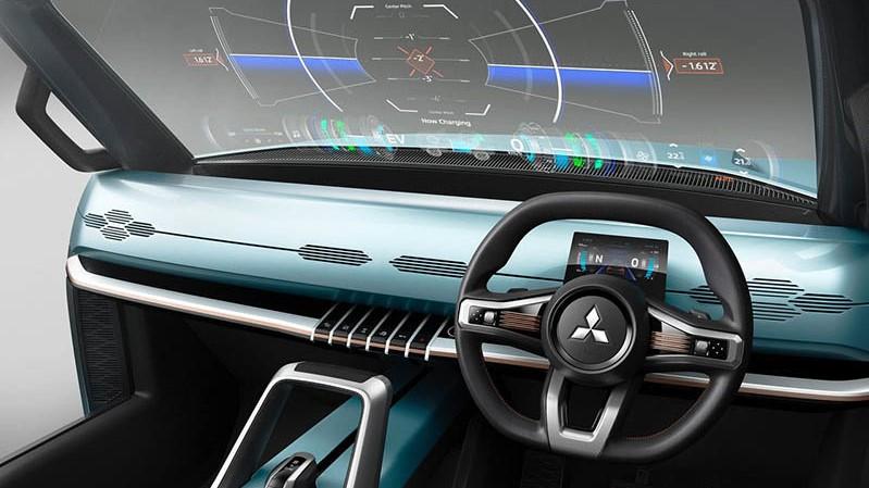 El minimalismo reina a placer en el interior de la Mitsubishi Mi-Tech Concept