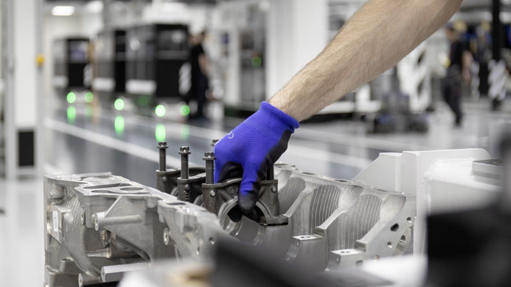 Mercedes-AMG motor construcción