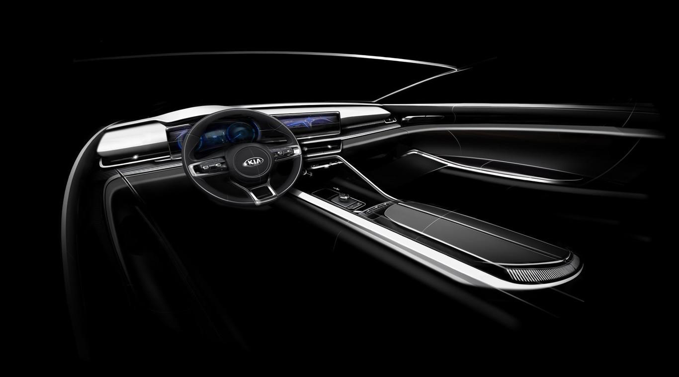 El Kia Optima 2021 tendrá líneas horizontales en su diseño interior