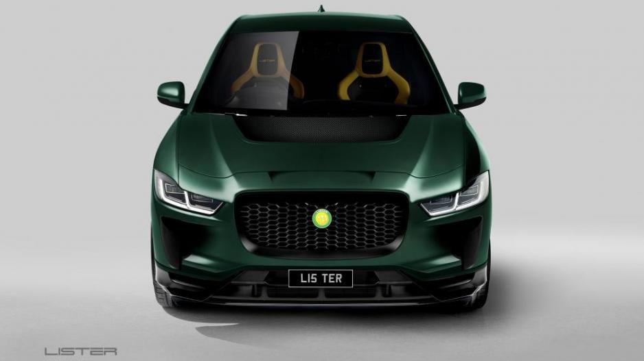 La Lister SUV-E Concept tiene un kit de carrocería que le da un aspecto más agresivo y radical