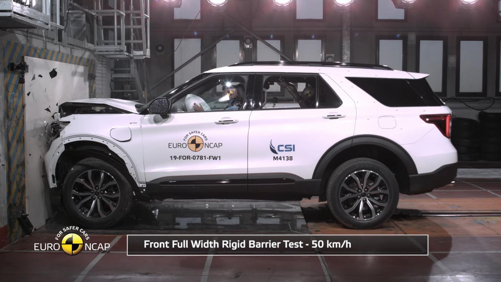 La Ford Explorer Plug-In Hybrid superó de buena forma las pruebas del programa de seguridad europeo