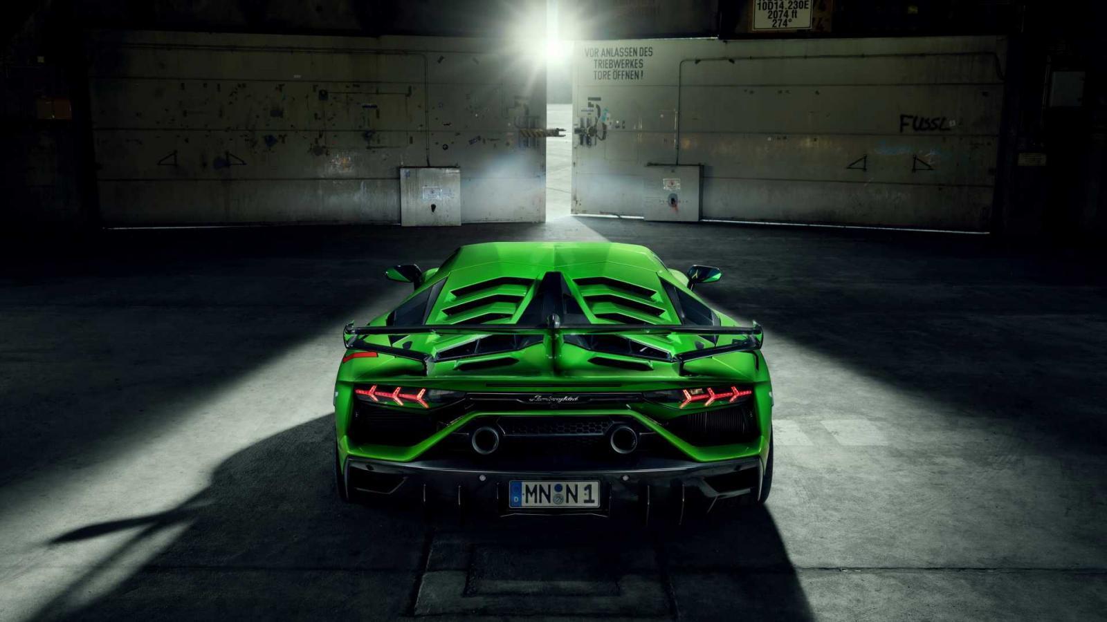 El escape del Lamborghini Aventador SVJ de Novitec logró bajar el peso del modelo base en 19 kilogramos
