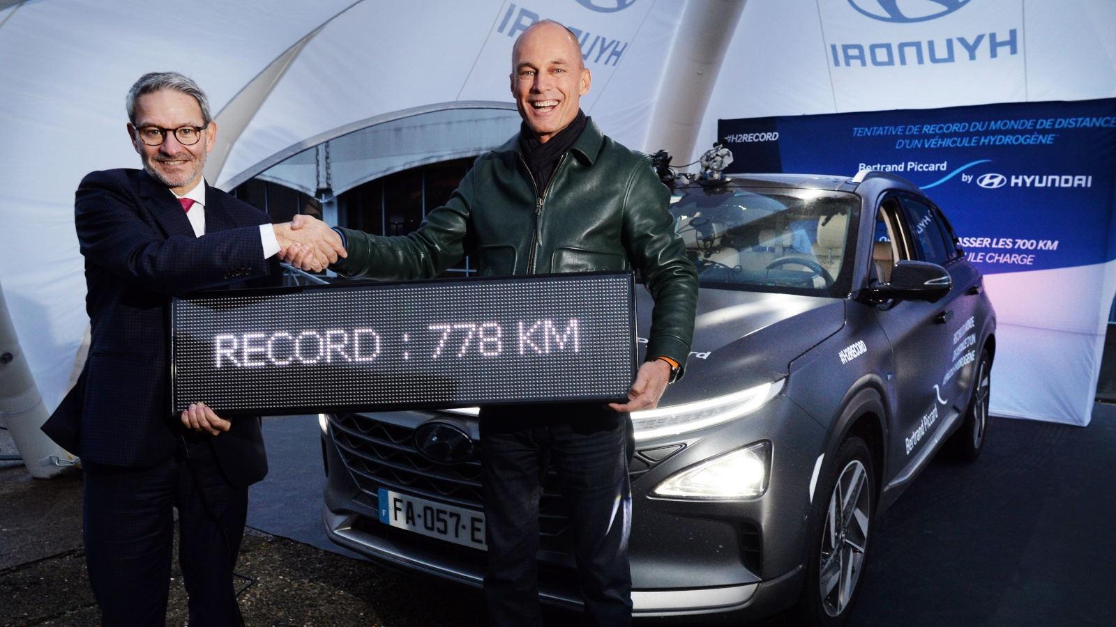 La Hyundai Nexo se adjudicó el récord de la mayor distancia recorrida para un auto con pila de combustible