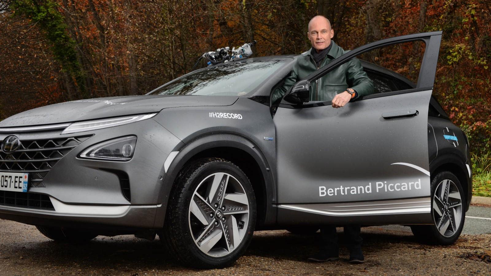 Bertrand Piccard fue el piloto que estuvo al volante de la Hyundai Nexo