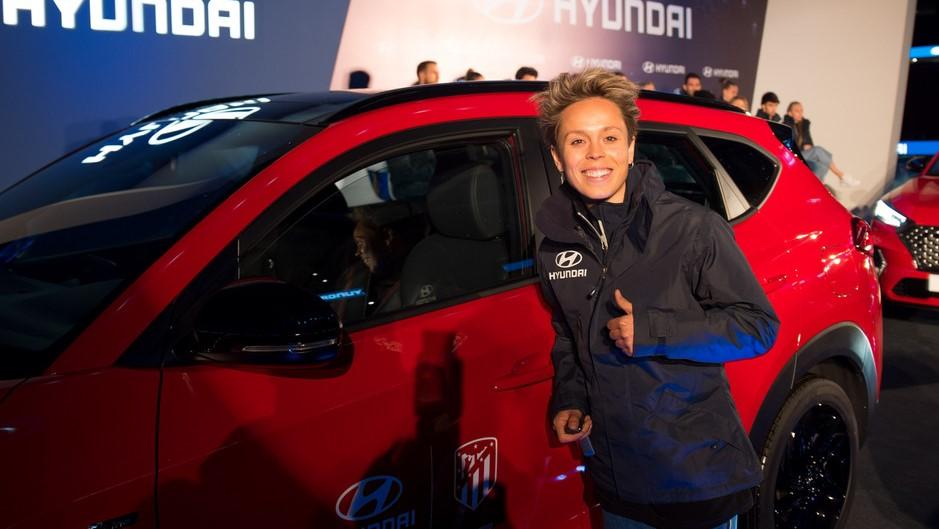 Las integrantes del equipo femenil también recibieron sus respectivas camionetas de Hyundai