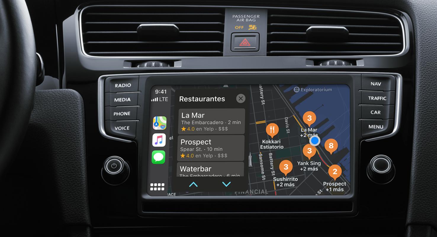 Apple CarPlay permite elegir entre diferentes aplicaciones de navegación satelital