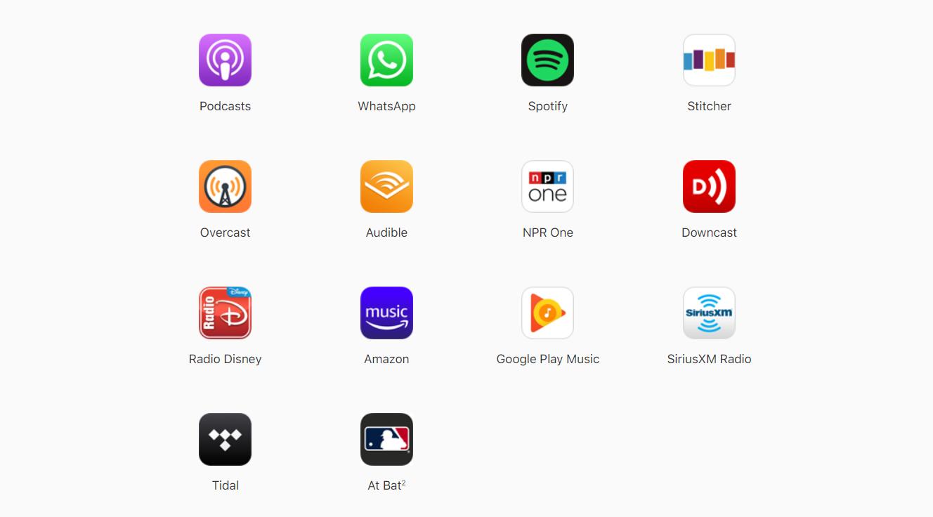 Apple CarPlay tiene una oferta interesante de aplicaciones