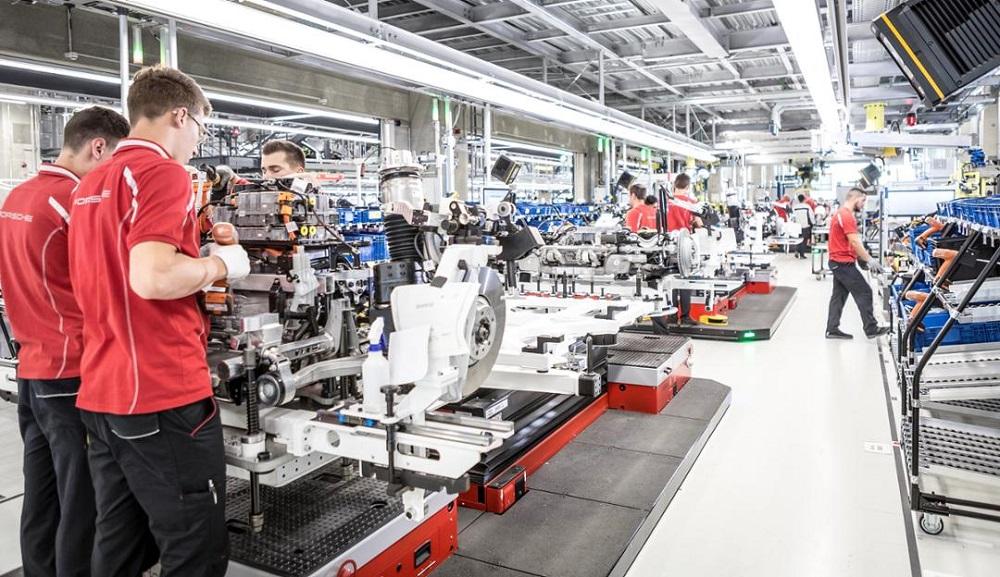 Fabricación motores eléctricos Porsche
