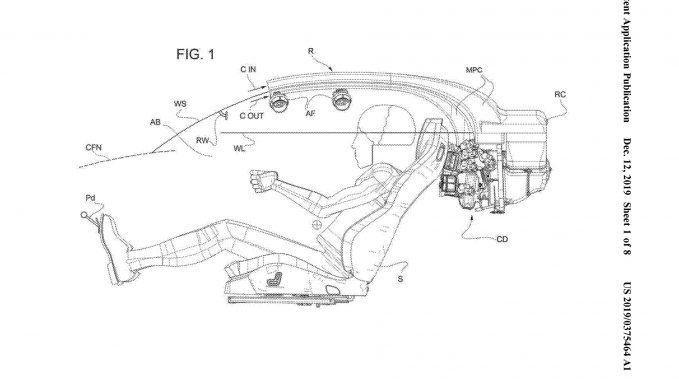 Ferrari halo patente
