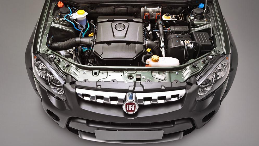 FIAT Palio Adventure Dualogic 2020 Debajo del cofre encontramos un motor 4 cilindros de 1.6 litros