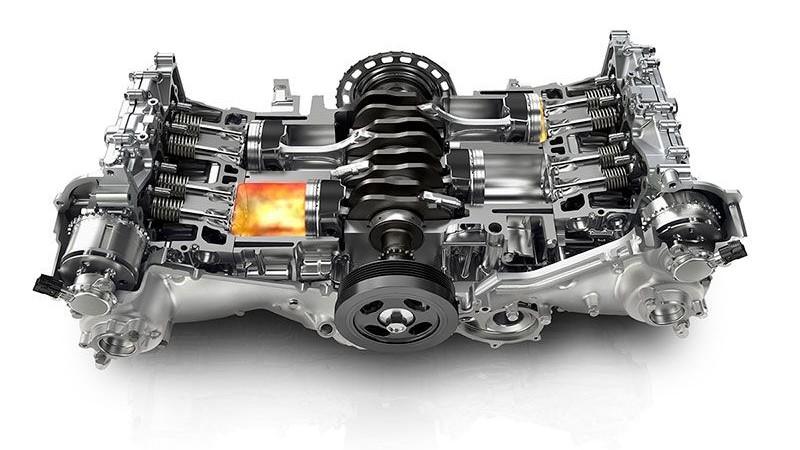 El motor bóxer tiene un centro de gravedad más bajo