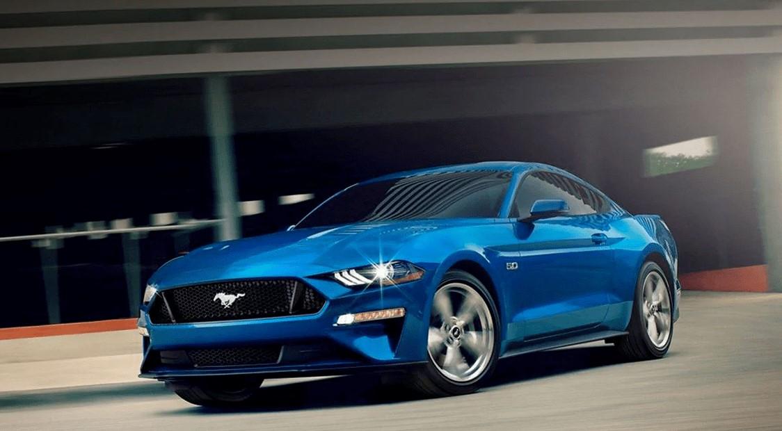 La patente usa un Ford Mustang en sus esquemas