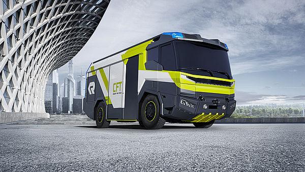 Rosenbauer Concept Fire Truck, el próximo camión de bomberos