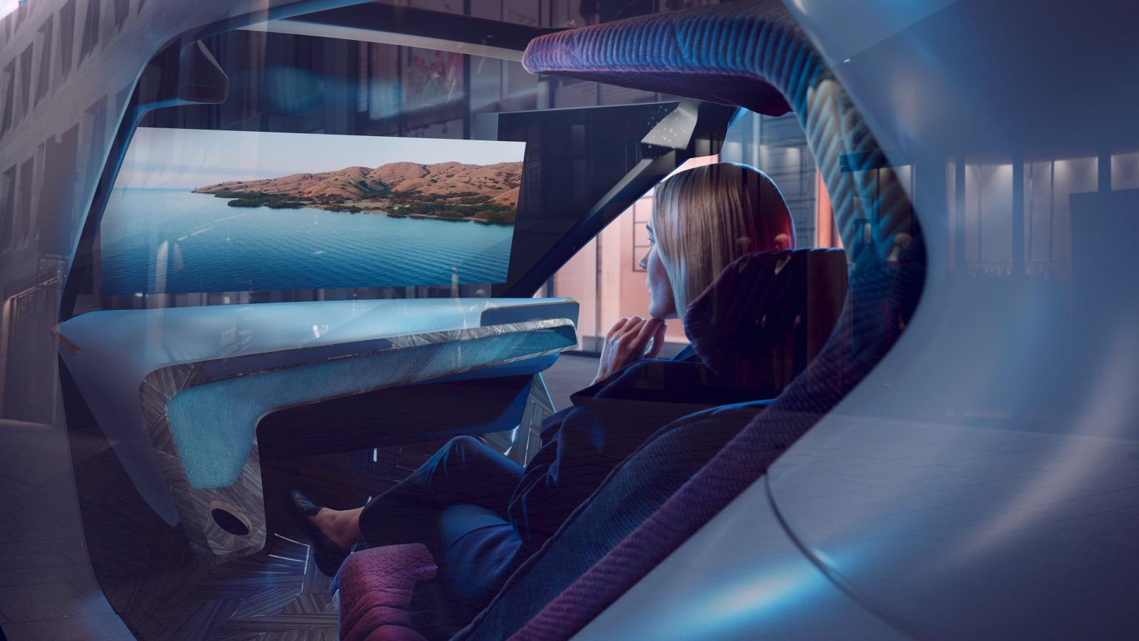 La cabina podría adoptar una configuración ideal para el entretenimiento multimedia