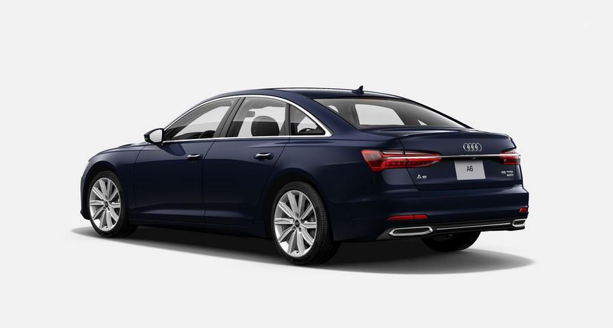 El Audi A6 55 TFSI S line 2020 resena opiniones tiene detalles en aluminio brillante