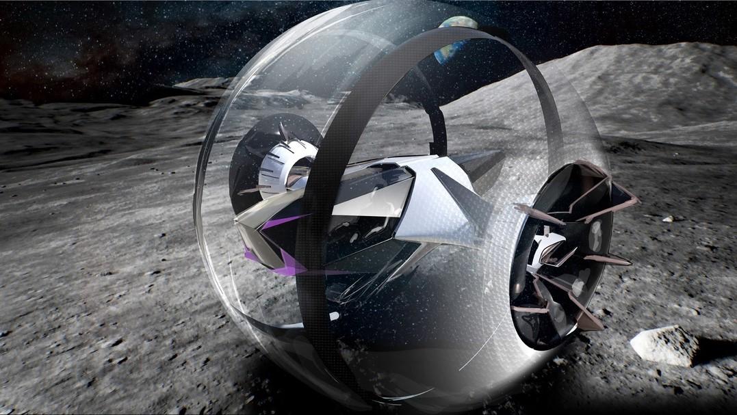El Lexus Moon Roller sería capaz de rodar en diferentes tipos de terreno