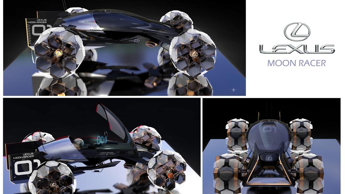 El Lexus Moon Racer también estaría listo para el manejo todoterreno