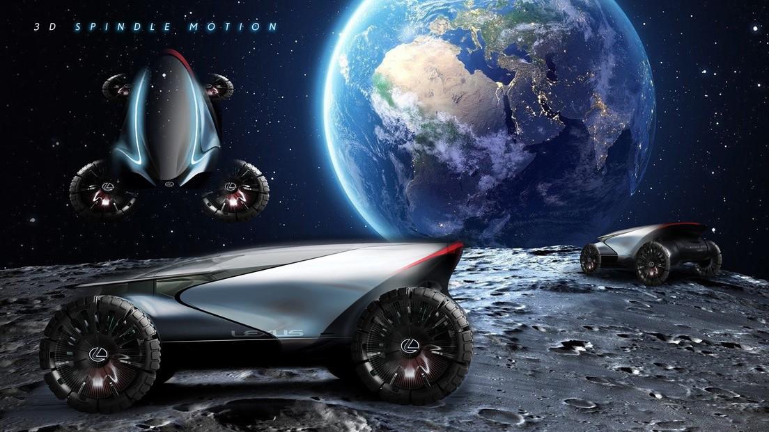 El Lexus Lunar Cruiser podría levitar y rodar sobre la superficie