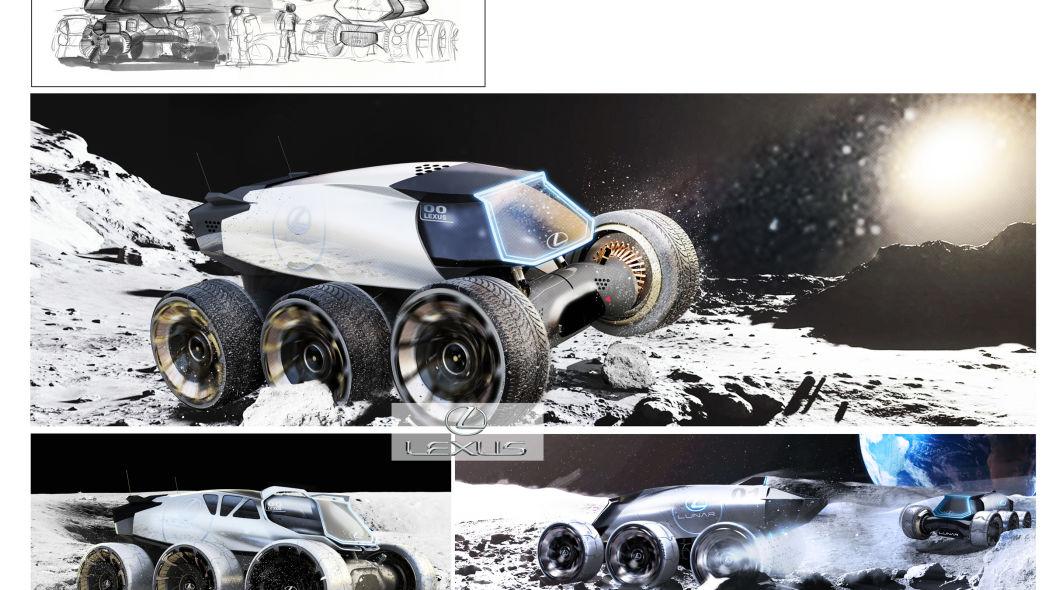 El Lexus Moon Lunar sobresale por llevar 6 enormes llantas