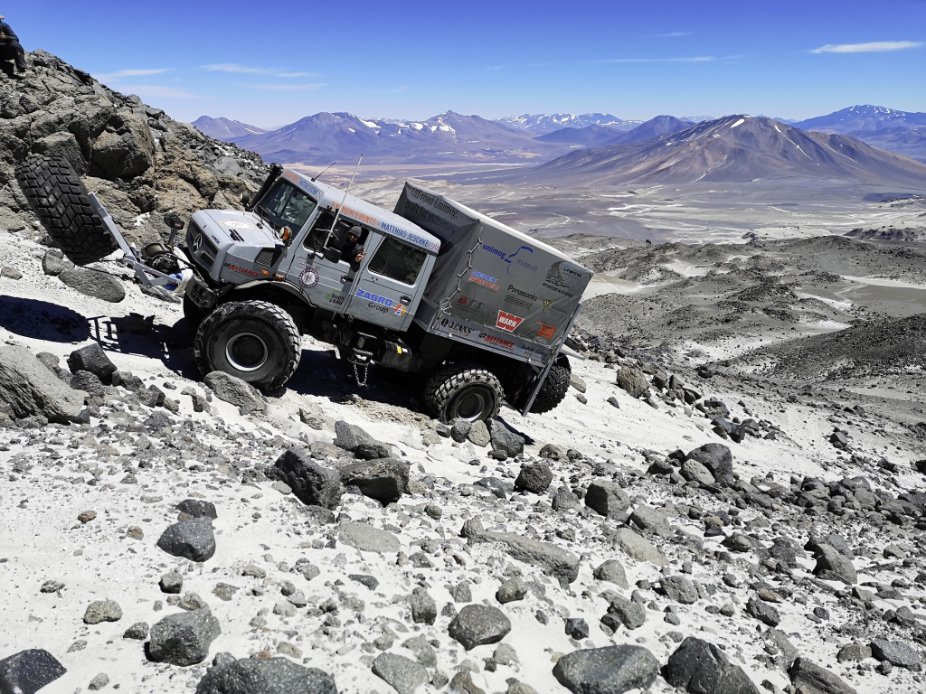 El Mercedes-Benz Unimog rompe récord de altitud en Chile