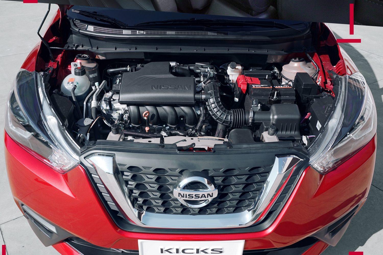 Nissan Kicks de color rojo