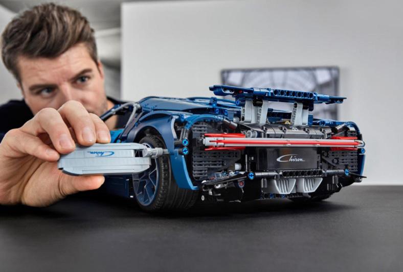 El Bugatti Chiron Lego salió en 2018