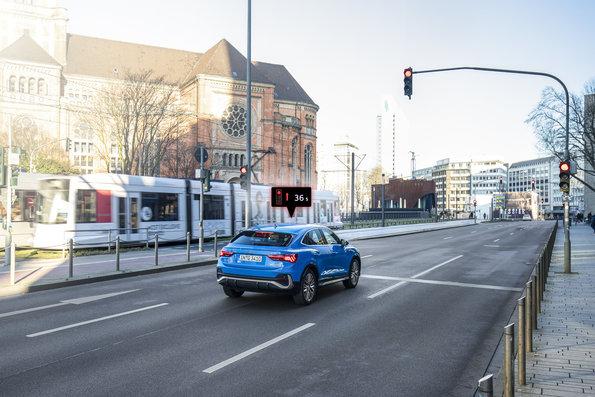 Audi lleva su conexión con los semáforos a Düsseldorf