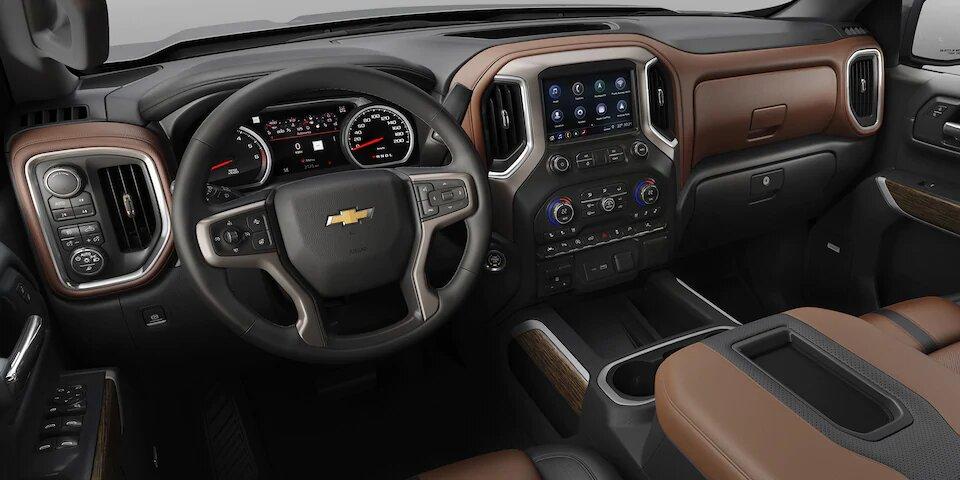 Chevrolet Cheyenne High Country 2020 resena Tiene numerosos compartimentos para guardar objetos
