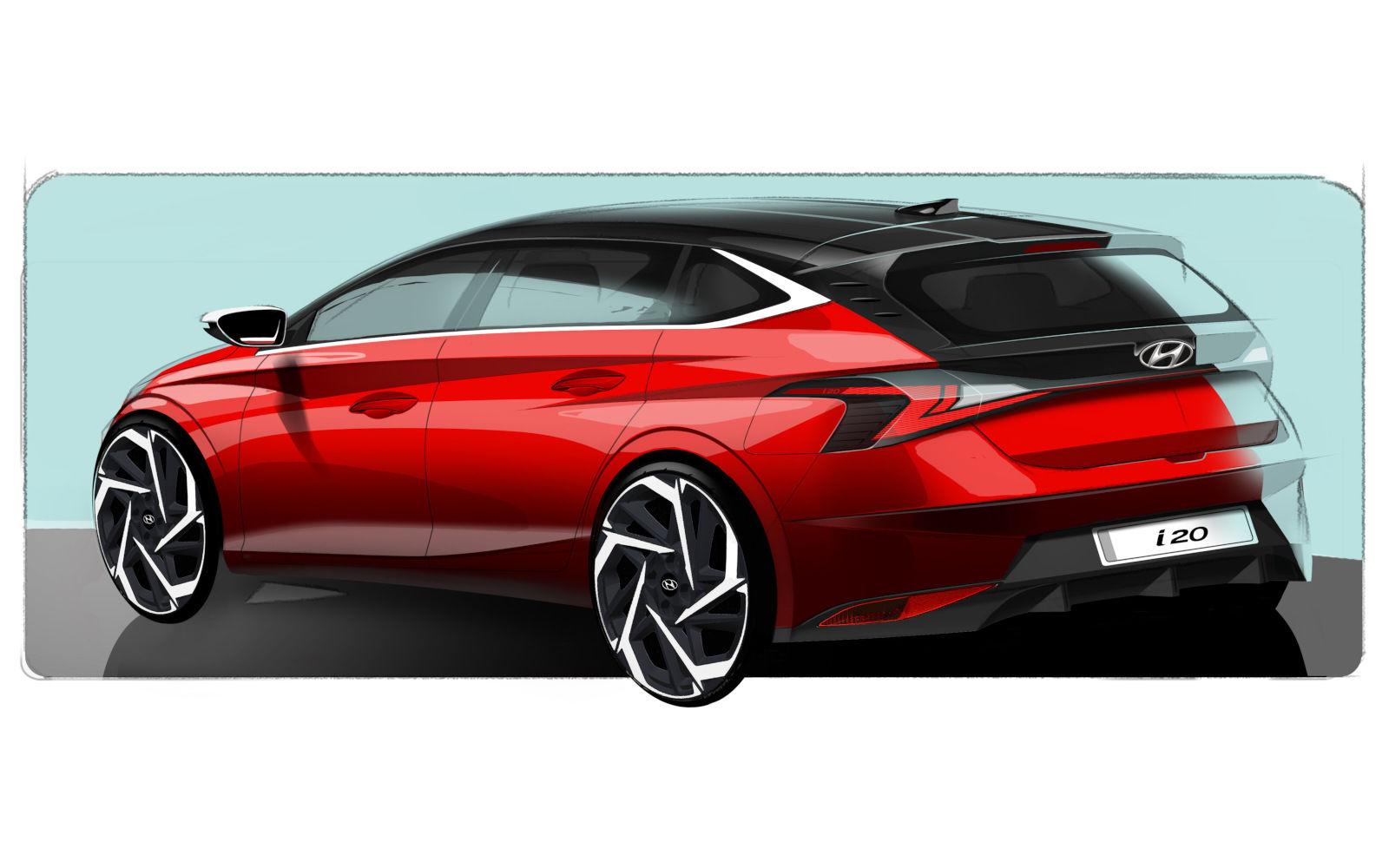 Hyundai presentó las primeras imágenes del nuevo i20