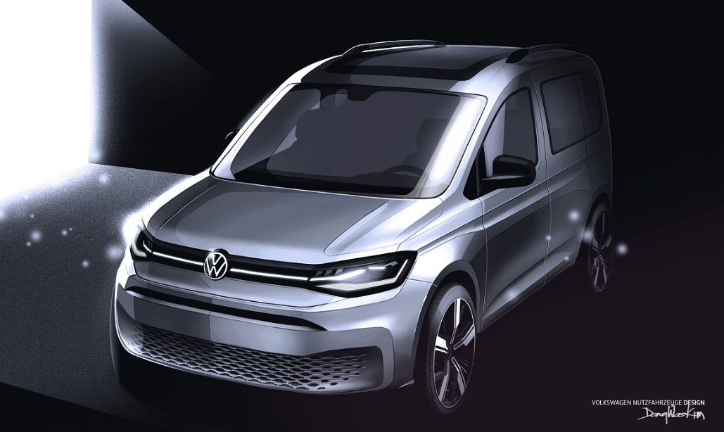 La Volkswagen Caddy tendrá novedades interesantes para el modelo 2021