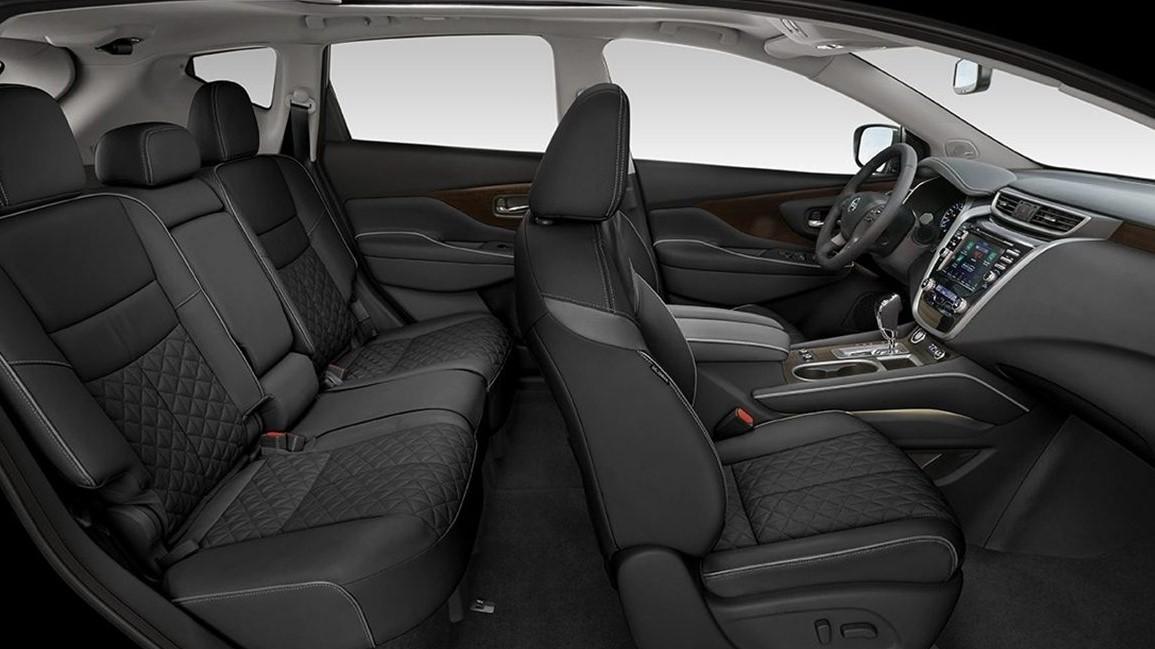 La cabina Nissan Murano Exclusive AWD 2020 resena opiniones es amplia en ambas filas