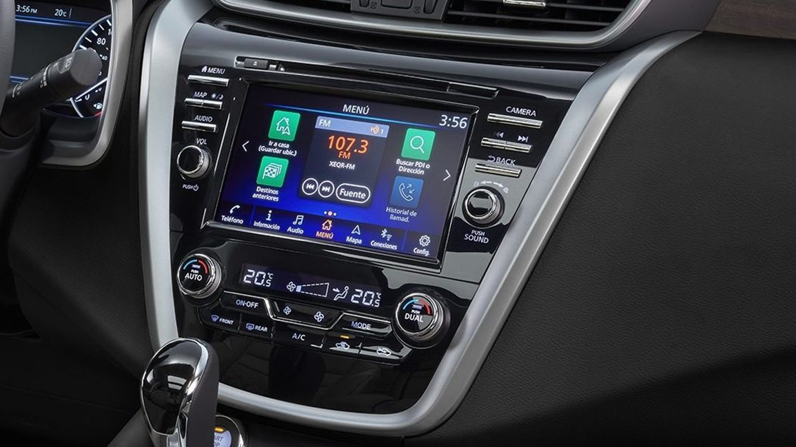Su sistema de infotenimiento Nissan Murano Exclusive AWD 2020 resena opiniones incluye compatibilidad con Android Auto y Apple CarPlay