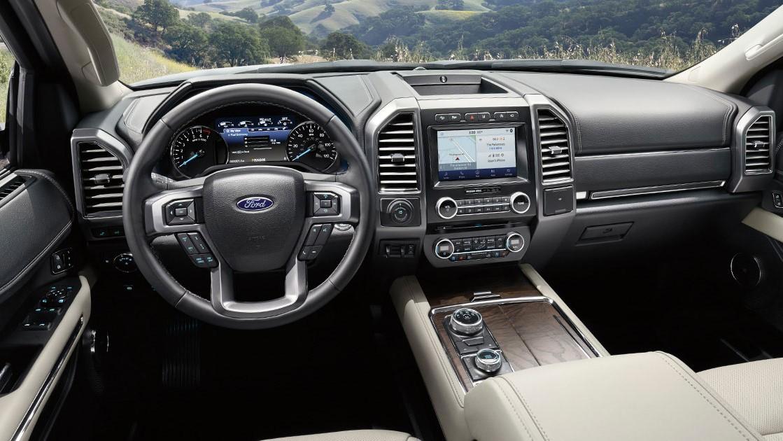 El interior Ford Expedition Platinum 2020 resena opiniones está construido con materiales y acabados de alta calidad