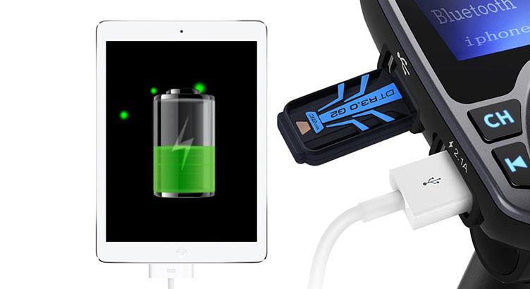Los puertos USB también sirven para recargar nuestros diferentes dispositivos