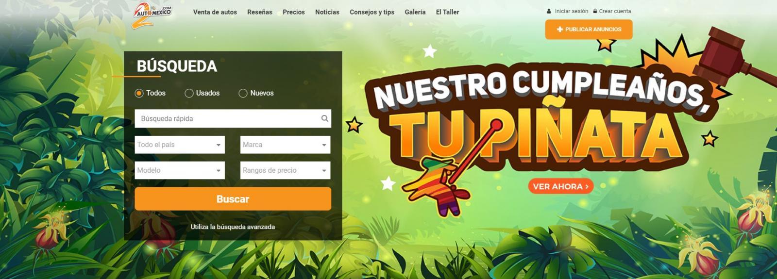 Automexico.com juego en linea pinata